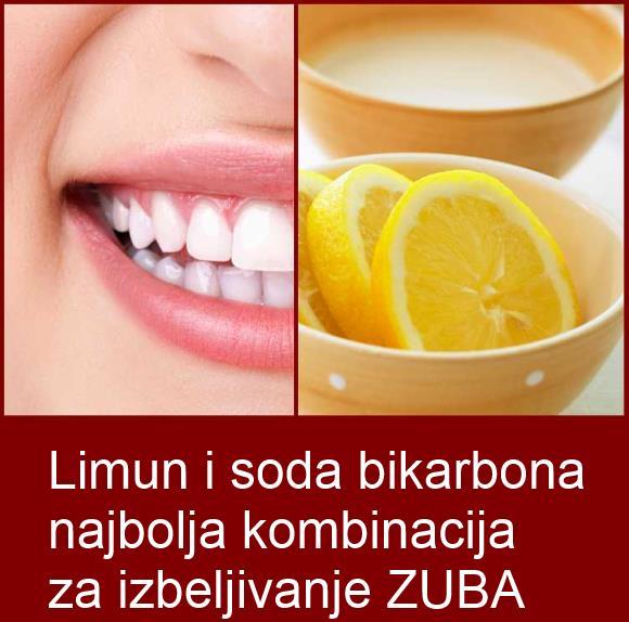 Limun i soda bikarbona za zube