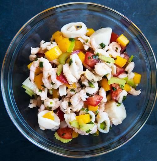 salata od morskih plodova recept